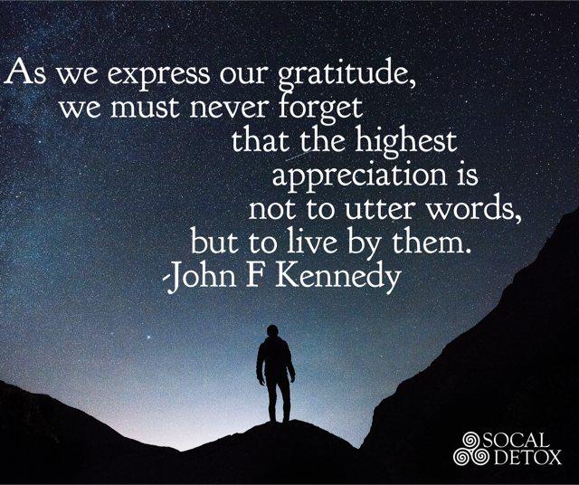 John F Kennedy Gratitude Quote: Gratitude-for-recovery-kenedy